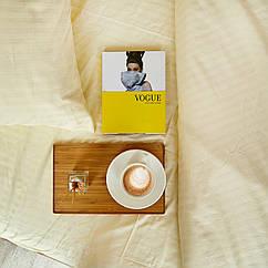 Комплект взрослого постельного белья Брейдж Страйп ТМ DS Home Line H01D Двуспальный