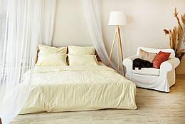 Комплект взрослого постельного белья Брейдж Страйп ТМ DS Home Line H01E Евро