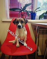 Обеденный стул AC-016W (Eames Chair) красный пластик