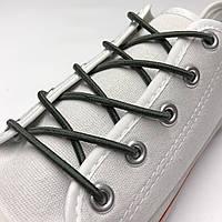 Шнурок резиновый круглый темный-хаки 80см (Толщина 3 мм), фото 1