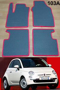 Коврики на Fiat 500 2007-. Автоковрики EVA