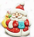 Трафарет + формочка-вырубка для пряника Дед мороз №1, фото 2