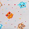 Постельное белье в детскую колыбель BabySoon три предмета Веселые совы цвет серый с бирюзовым (411), фото 4