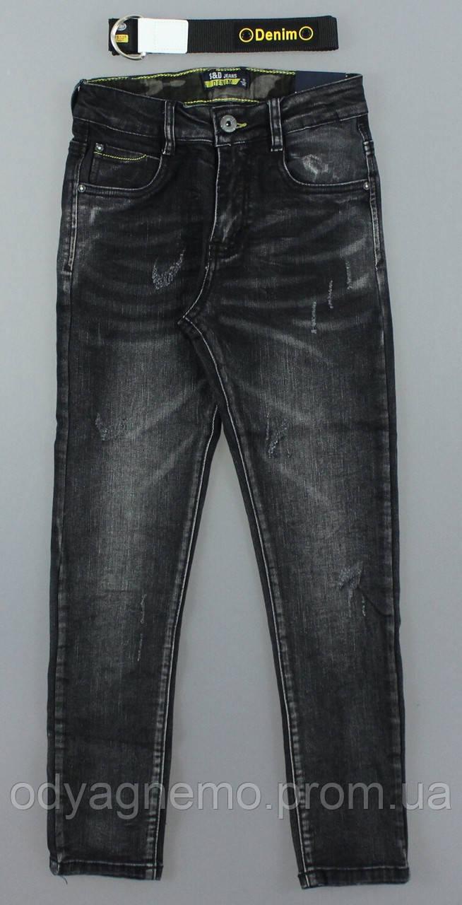 Джинсовые брюки для мальчиков S&D оптом, 4-12 лет.