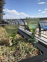 Набор 6 бокалов для вина из цветного зеленого стекла Bailey Orient по 250 мл