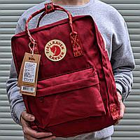 Рюкзак городской качественный Fjallraven Kanken classic, цвет бордовый (дизайнерские ручки), фото 1