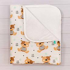 Непромокаємий пелюшка BabySoon Ведмедики Тедді 70 х 80 см (0632)