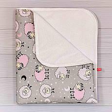 Непромокаємий пелюшка BabySoon Рожеві баранці 70 х 80 см (0634)
