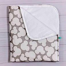 Непромокаемая пеленка BabySoon Серый Мики 70 х 80 см (0639)