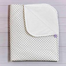 Непромокаємий пелюшка BabySoon Сірий горошок 70 х 80 см (0650)