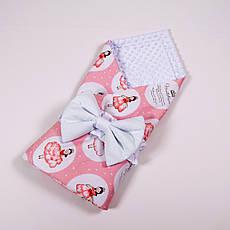 Річний конверт-ковдру на виписку BabySoon 78х85см Принцеса в бальній сукні