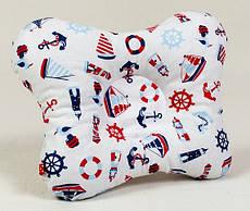 Подушка ортопедична для новонароджених метелик BabySoon Морячок 22 х 26 см (140)