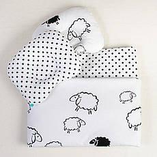 Комплект в дитячу коляску BabySoon Білосніжні баранці ковдру 65 х 75 см подушка 22 х 26 см (120)