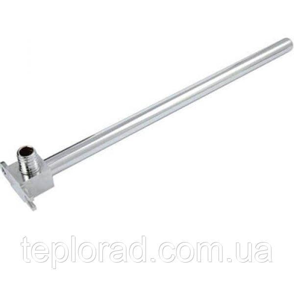 Отвод KAN-Therm Push с трубкой Cu d15 с кронштейном - элемент никелированный 18х2.5 L=750 мм