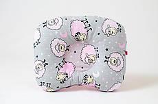 Дитяча ортопедична подушка BabySoon Рожеві баранці 22 х 26 см (535)