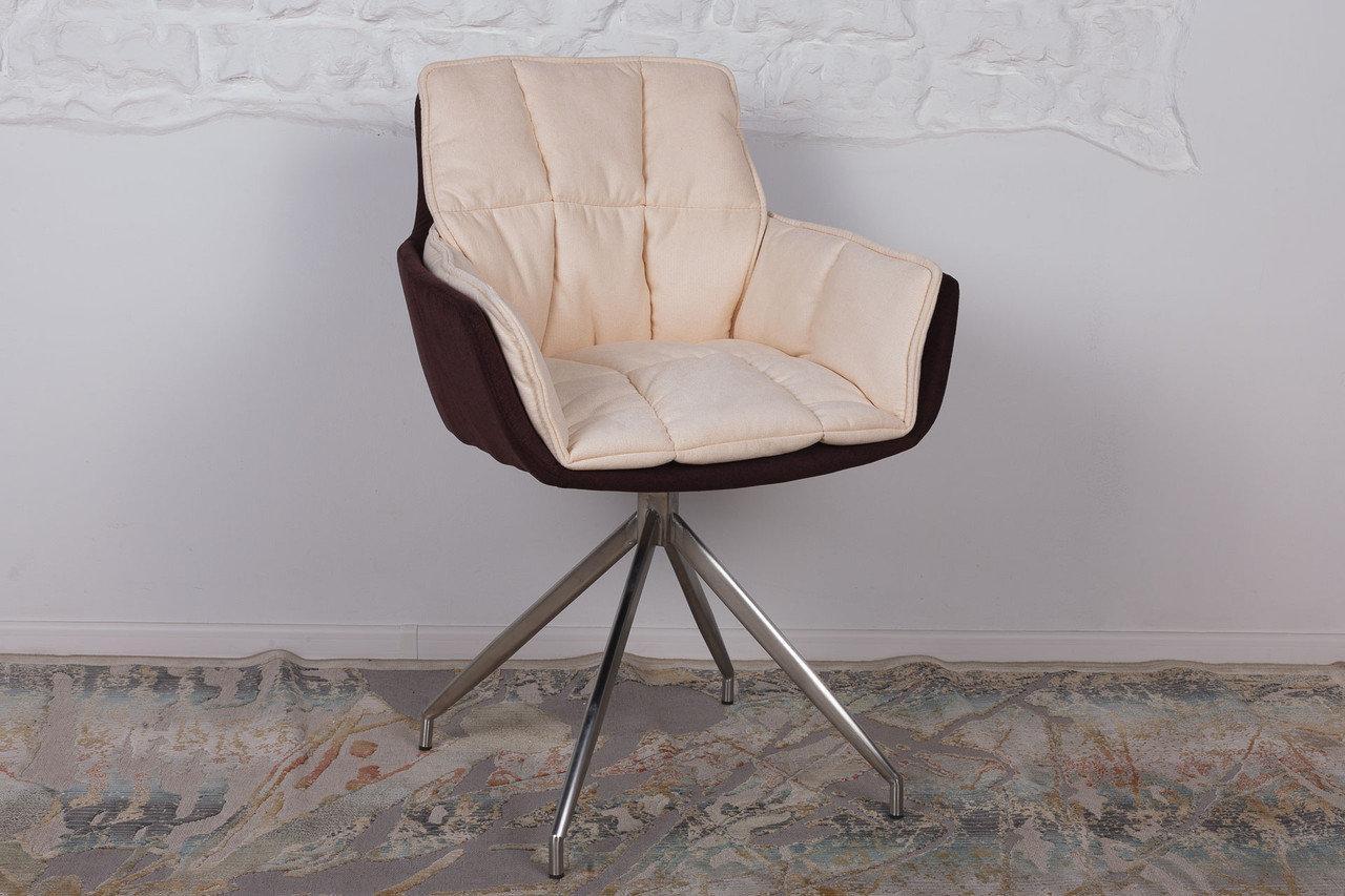 Кресло Nicolas PALMA 59х50х88 см коричнево-бежевое