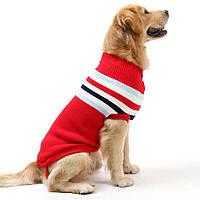 Свитер для больших собак «Полоска», красный