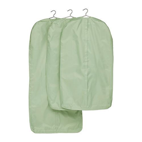 СКУББ Чехол для одежды, 3 штуки, светло-зеленый, 50299719, ИКЕА, IKEA, SKUBB