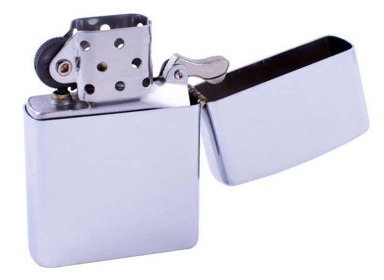 Зажигалка BS0873 гладкая, бензиновая зажигалка