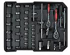 Набір інструментів Rupez RTS-186 од. Набір головок та ключів хром-ванадій, фото 3