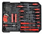 Набір інструментів Rupez RTS-186 од. Набір головок та ключів хром-ванадій, фото 8