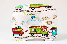 Дитяча ортопедична подушка BabySoon Звірята в поїзді 22 х 26 см (545)