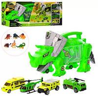 Трейлер - динозавр с машинками и фигурками, фото 1