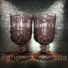 Набор 6 бокалов для вина из цветного розового стекла Bailey Chalice по 300 мл