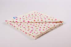 Плед дитячий плюшевий BabySoon 78х85см Рожеві трояндочки на плюше молочного кольору