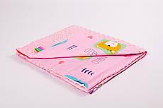 Плед дитячий плюшевий BabySoon 78х85см Хелло з плюшем рожевого кольору