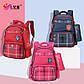 """Школьный рюкзак """"Лисенок"""" с сумочкой для карандашей на карабине, влагозащищенный, 18л Розовый, фото 3"""