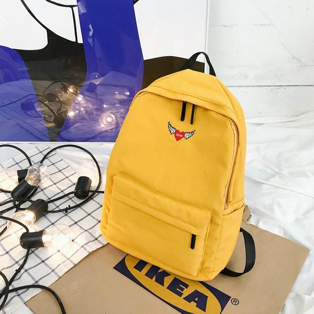 Рюкзак міський жовтий однотонний