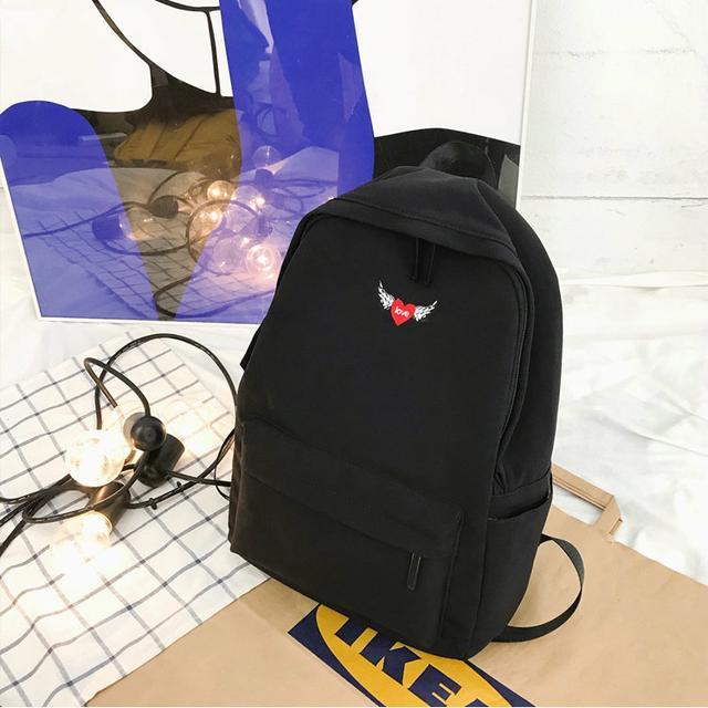 Рюкзак міський однотонний чорний