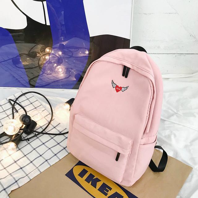 Рюкзак міський однотонний рожевий