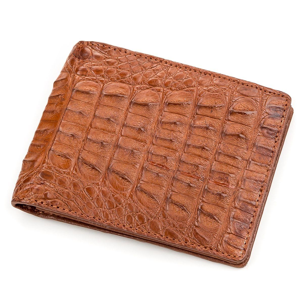 Кошелек Crocodile Leather 18164 Из Натуральной Кожи Крокодила Коричневый, Коричневый