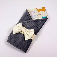 Демисезонный плюшевый конверт - одеяло на выписку BabySoon Котики 78 х 85 см