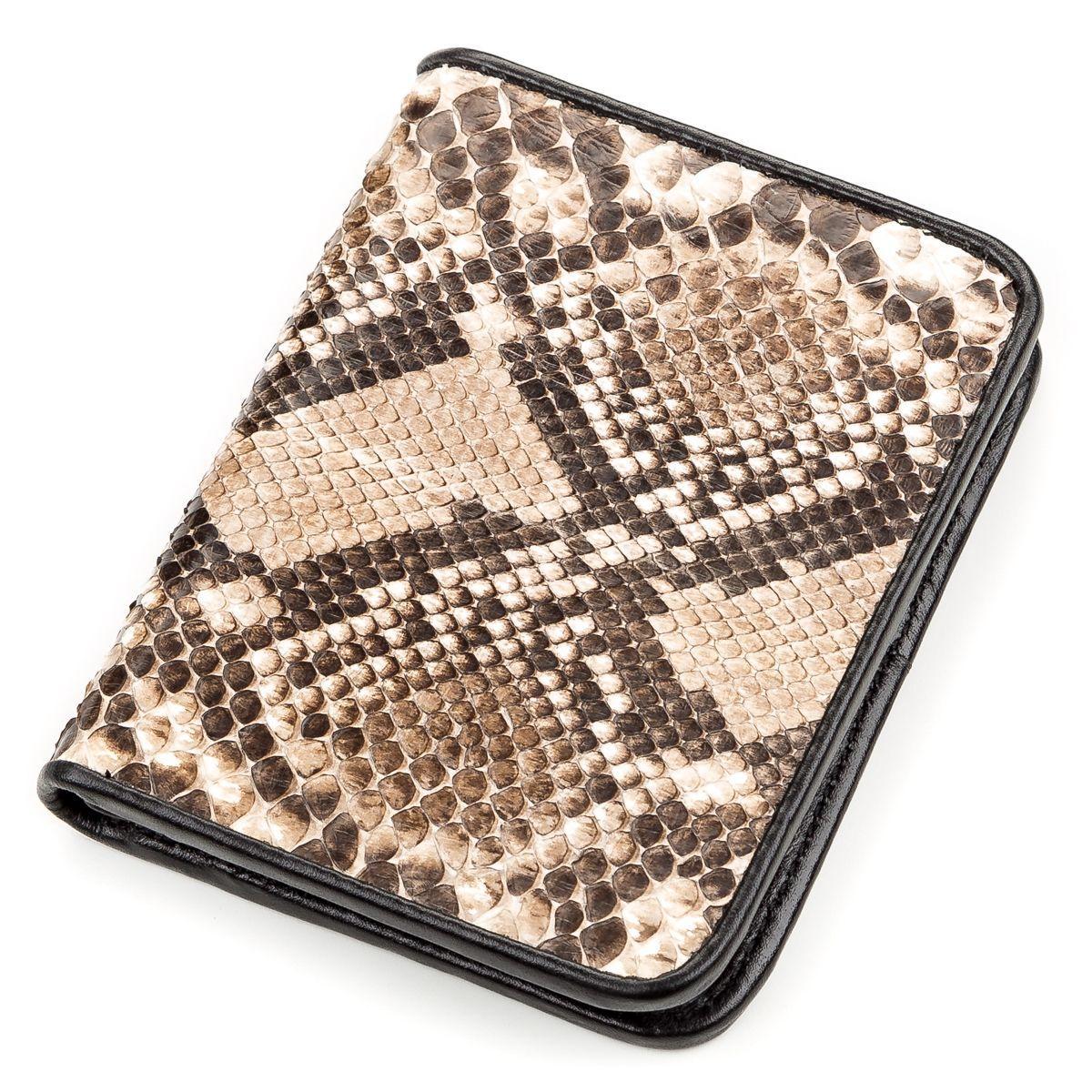 Портмоне Snake Leather 18198 Из Натуральной Кожи Питона Коричневое, Коричневый