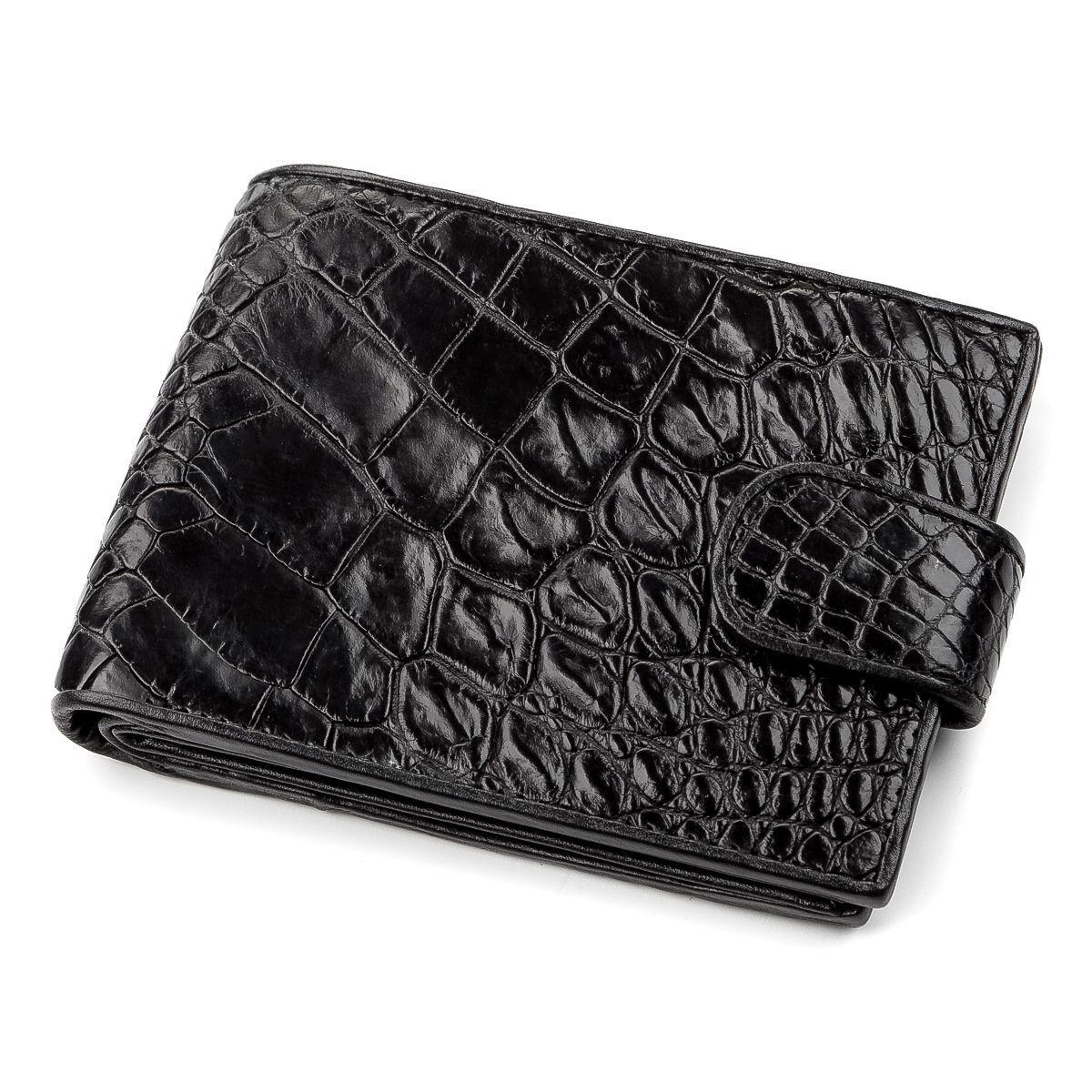 Кошелек Crocodile Leather 18209 Из Натуральной Кожи Крокодила Черный, Черный