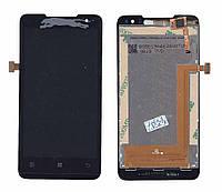 Матрица с тачскрином (модуль) для Lenovo IdeaPhone P770 черный. Модуль для IdeaPhone P770