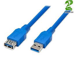 Кабель ATcom удлинитель USB 3.0 AM/AF 1.8 м blue