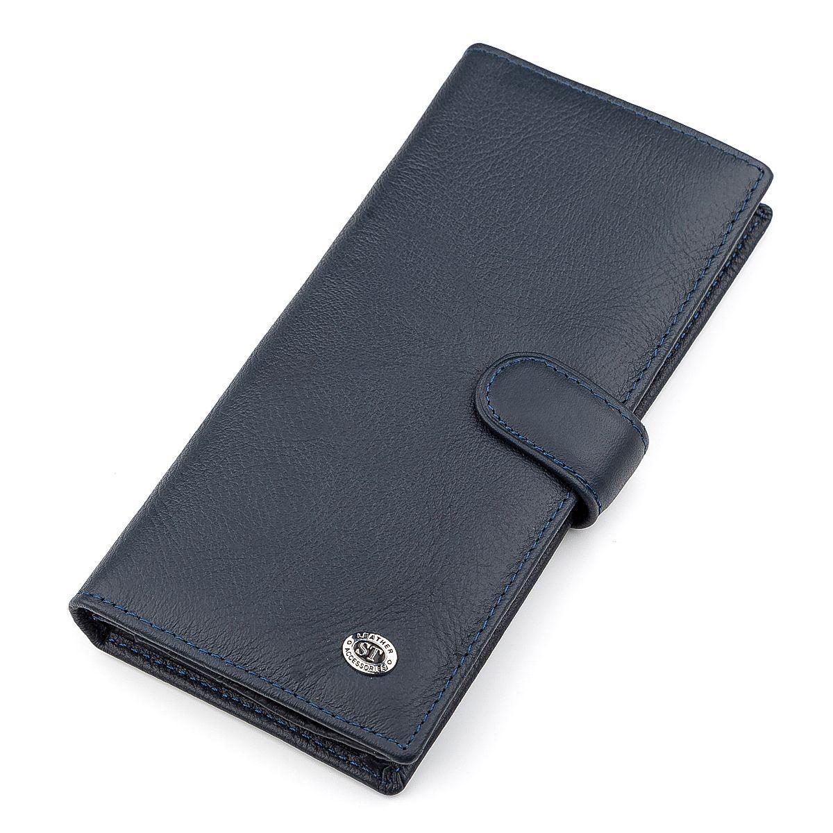 Мужской Купюрник St Leather 18365 (St147) Кожаный Синий, Синий