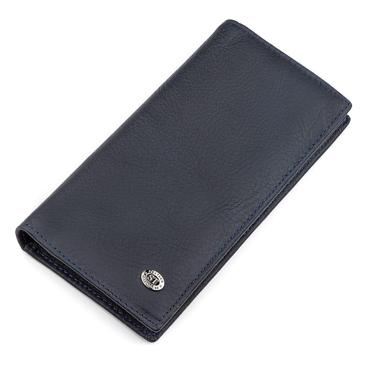 Мужской Купюрник St Leather 18370 (St148) Очень Удобный Синий, Синий