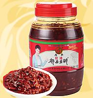 Паста Чилі, гостра, з соєвими бобами, 1.1 кг,  Dan Dan, Китай, NV