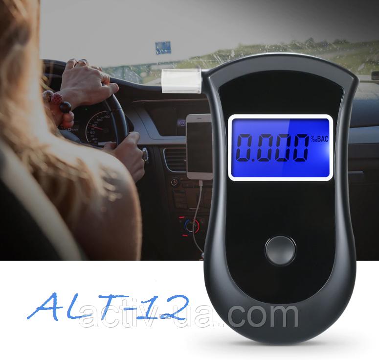 Алкотестер персональный ALT-12 (AT2500) с полупроводниковым датчиком и мундштуками