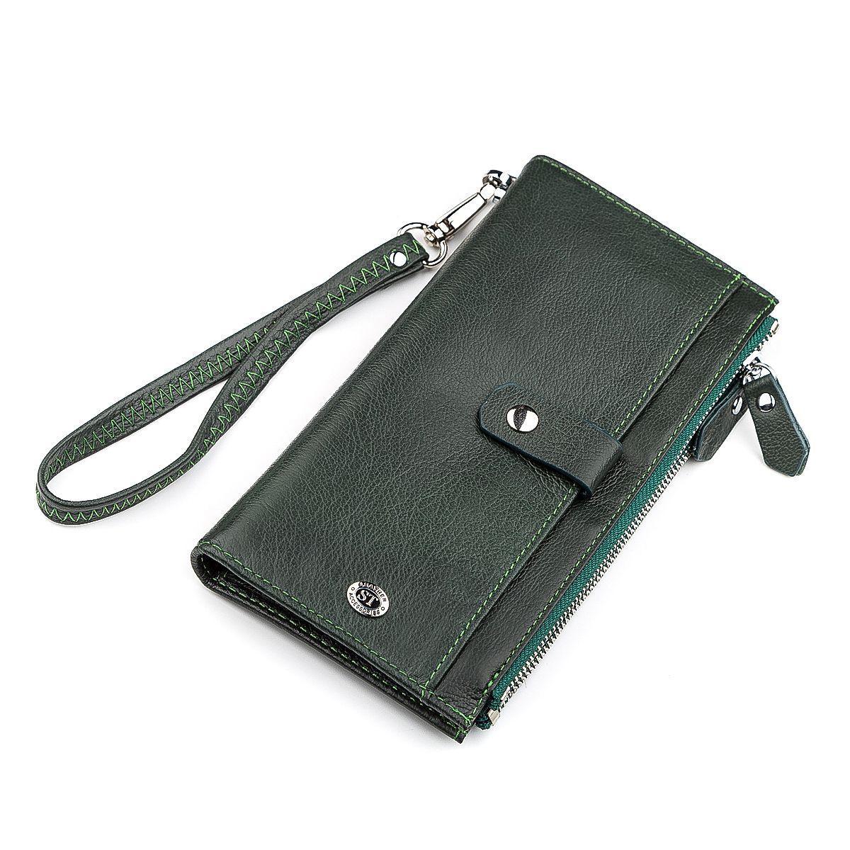 Кошелек Женский St Leather 18380 (St420) Кожаный Зеленый, Зеленый