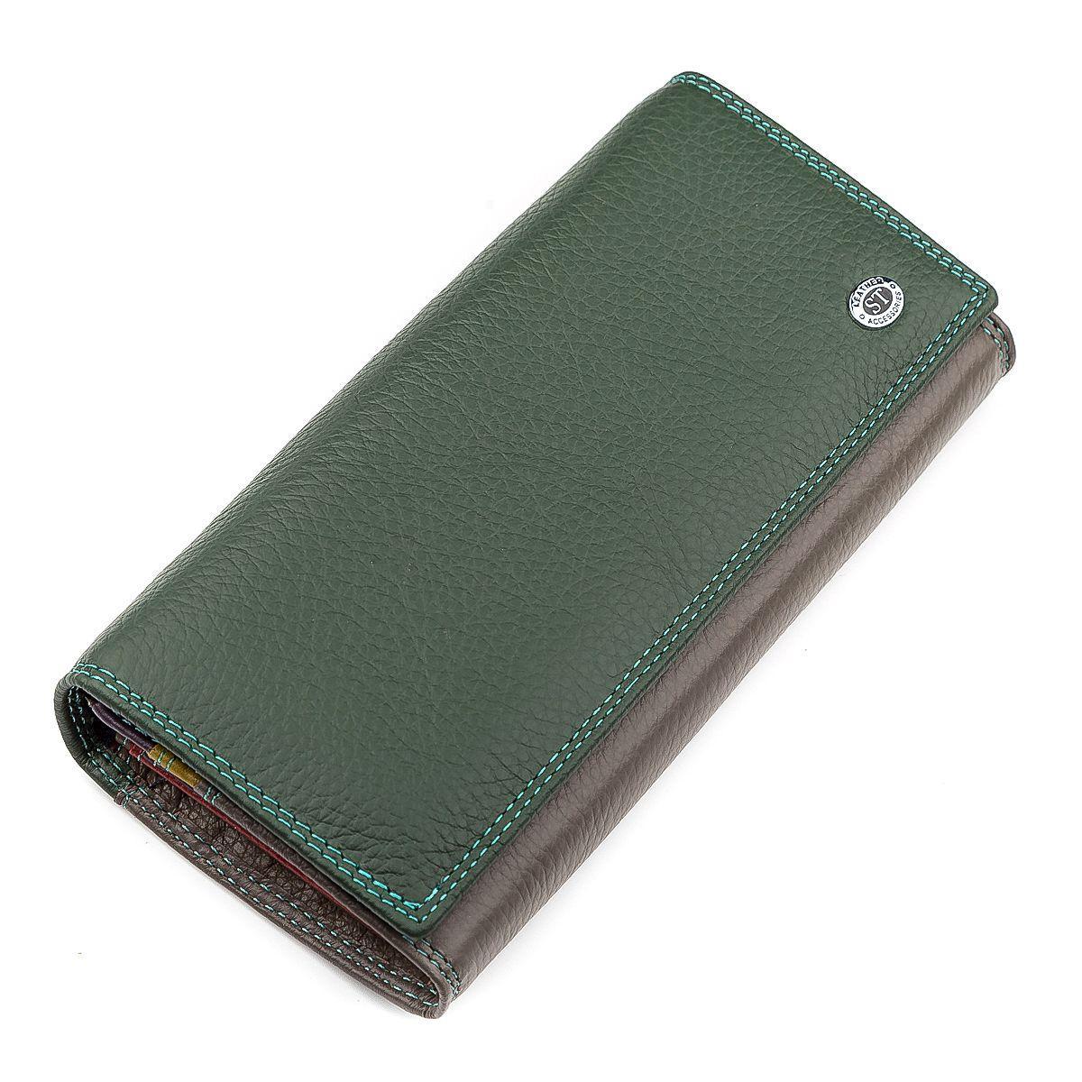 Кошелек Женский St Leather 18388 (Sb237) Нарядный Зеленый, Зеленый