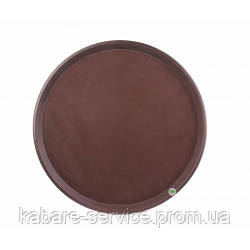 Поднос АНТИСЛИП, нескользящее покрытие, 36 см, коричневый, Co-Rect