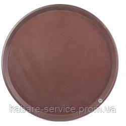 Поднос Антислип,  нескользящее покрытие, Co-Rect, 41 см, коричневый