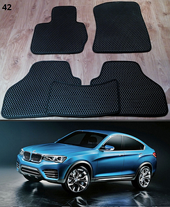 Коврики на BMW X4 F26 2014-. Автоковрики EVA