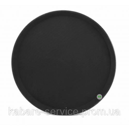 Поднос Антислип, нескользящее покрытие, Китай, 36 см, черный